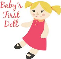 Babys First Doll print art