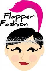 Flapper Fashion print art