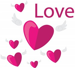 Love Hearts print art
