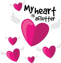 Heart is Aflutter print art