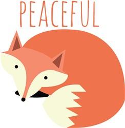 Peaceful Fox print art