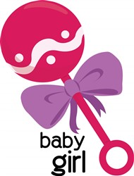 Baby Girl Rattle print art