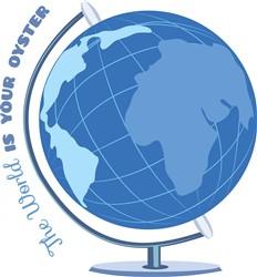 Oyster Globe print art