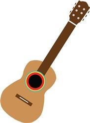 Mexico Guitar print art