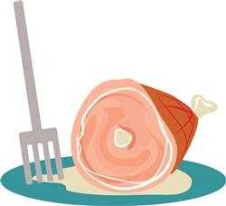 Ham Dinner print art