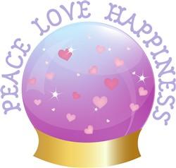 Peace Love Happiness print art