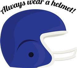 Wear a Helmet print art