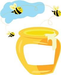 Honey Pot print art