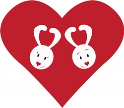 Bunny Valentine print art