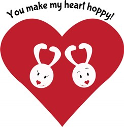 Hoppy Heart print art