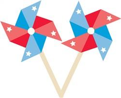 Patriotic Pinwheel print art