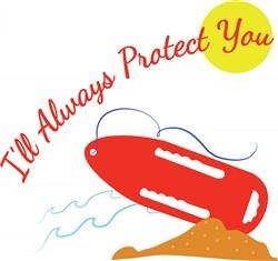 Lifeguards Protect print art