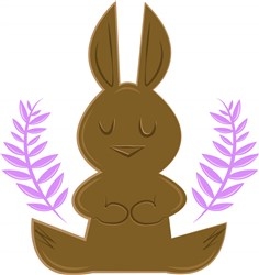 Chocolate Bunny print art