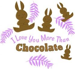 Love You More Than Chocolate print art