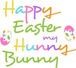 Happy Easter Hunny Bunny print art