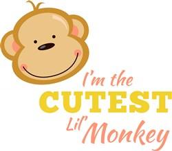 Cutest Lil Monkey print art