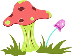 Garden Mushrooms print art