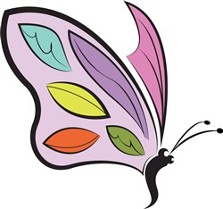 Colorful Butterfly print art