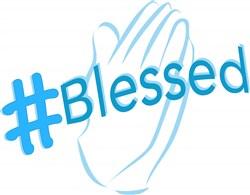 Hashtag Blessed print art