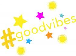 Hashtag Good Vibes print art