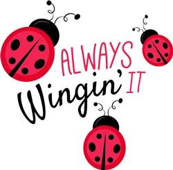 Wingin It print art