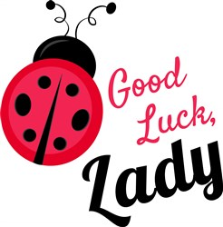 Good Luck Lady print art