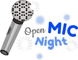 Open Mic Night print art