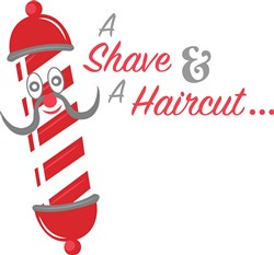 Shave & Haircut print art