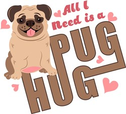 Pug Hug print art