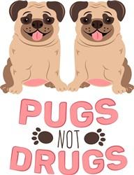 Pugs Not Drugs print art