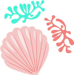 Shell & Coral print art