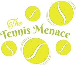 Tennis Menace print art
