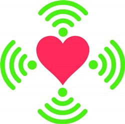 Wifi Heart print art