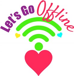Wifi_Heart_Let s_Go_Offline print art
