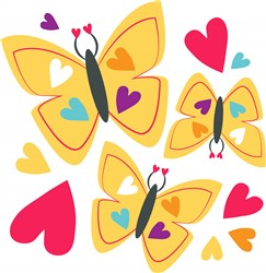 Heart Butterflies print art