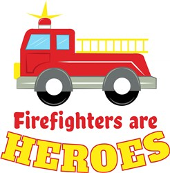 Firefighters Heroes print art