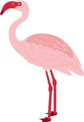 Flamingo print art