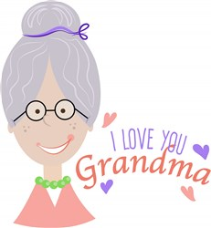 Love You Grandma print art