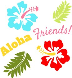 Aloha Friends print art