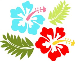 Hawaiian Flower print art