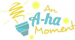 A-ha Moment print art