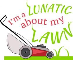 Lunatic About Lawn print art