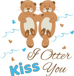 Otter Kiss You print art