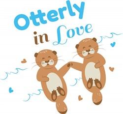 Otterly In Love print art