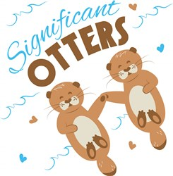 Significant Otters print art