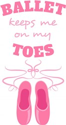 On My Toes print art