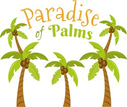 Paradise Of Palms print art
