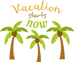 Vacation Starts Now print art