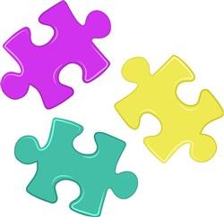 Puzzles Pieces print art