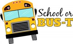School Or Bus-t print art